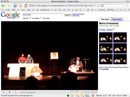 Super Mario Brothers live on the Marimbas