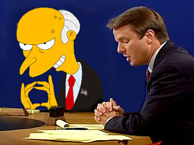 Cheney Edwards debate picture [featuring Mr. Burns from the Simpsons playing the role of Cheney...]